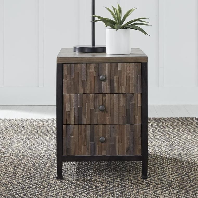 Harvest Home Chairside Table by Libby at Walker's Furniture