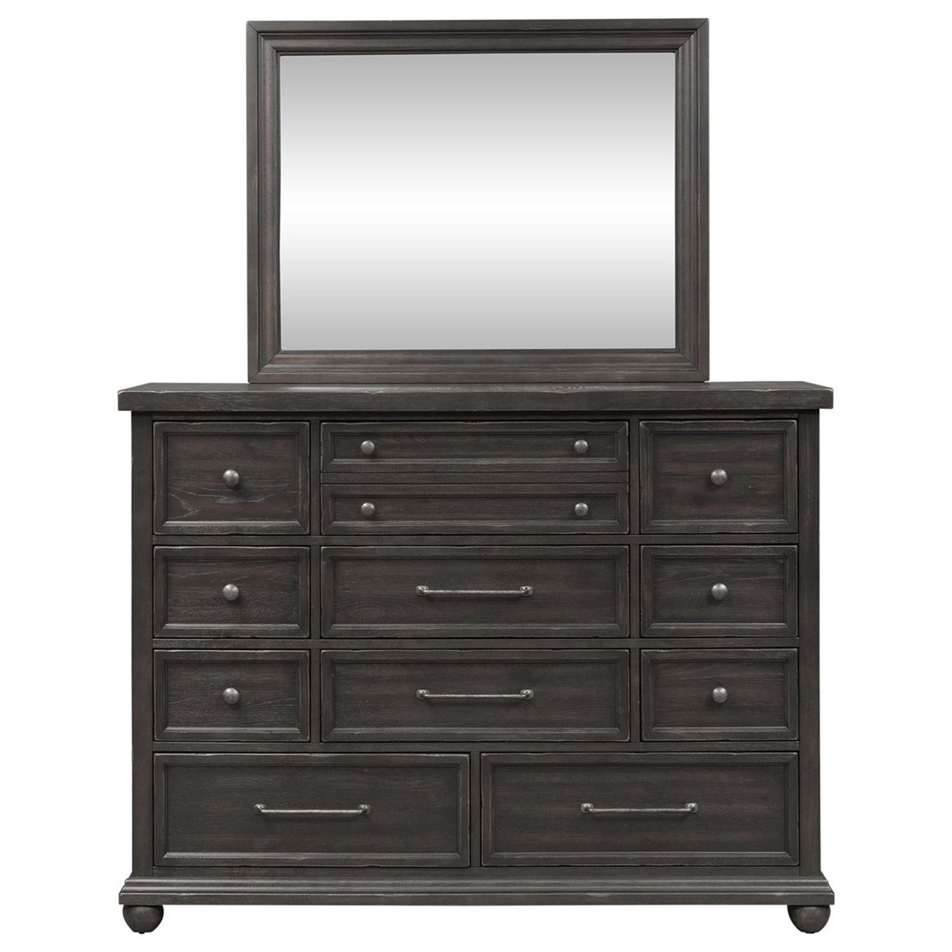 Harvest Home Dresser and Mirror by Libby at Walker's Furniture