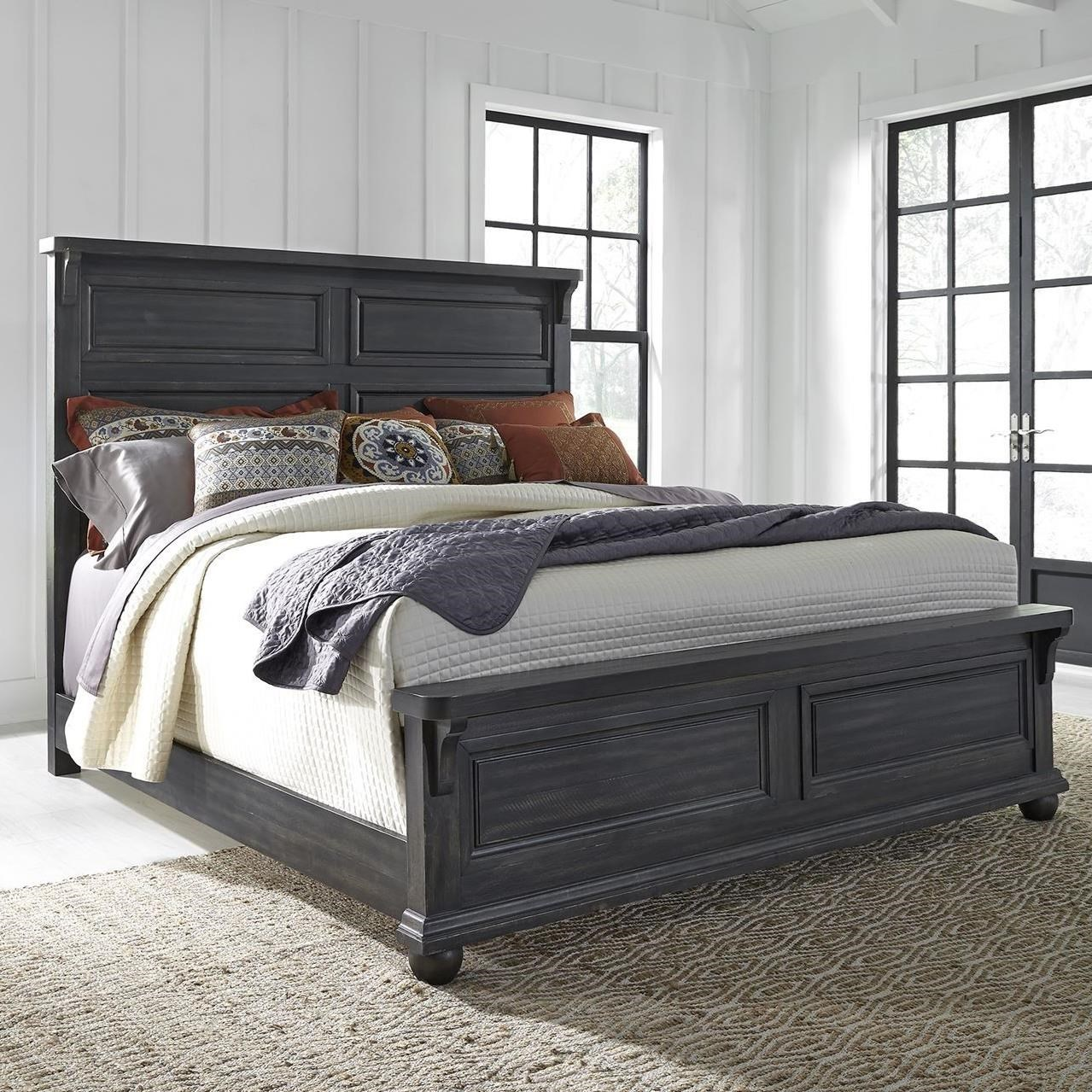 Harvest Home Queen Panel Bed by Libby at Walker's Furniture