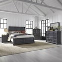 Liberty Furniture Harvest Home King Bedroom Group - Item Number: 879-BR-KPBDMCN