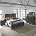 Liberty Furniture Harvest Home King Bedroom Group - Item Number: 879-BR-KPBDMN