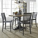 Liberty Furniture Harvest Home 5-Piece Gathering Table Set - Item Number: 879-DR-5GTS