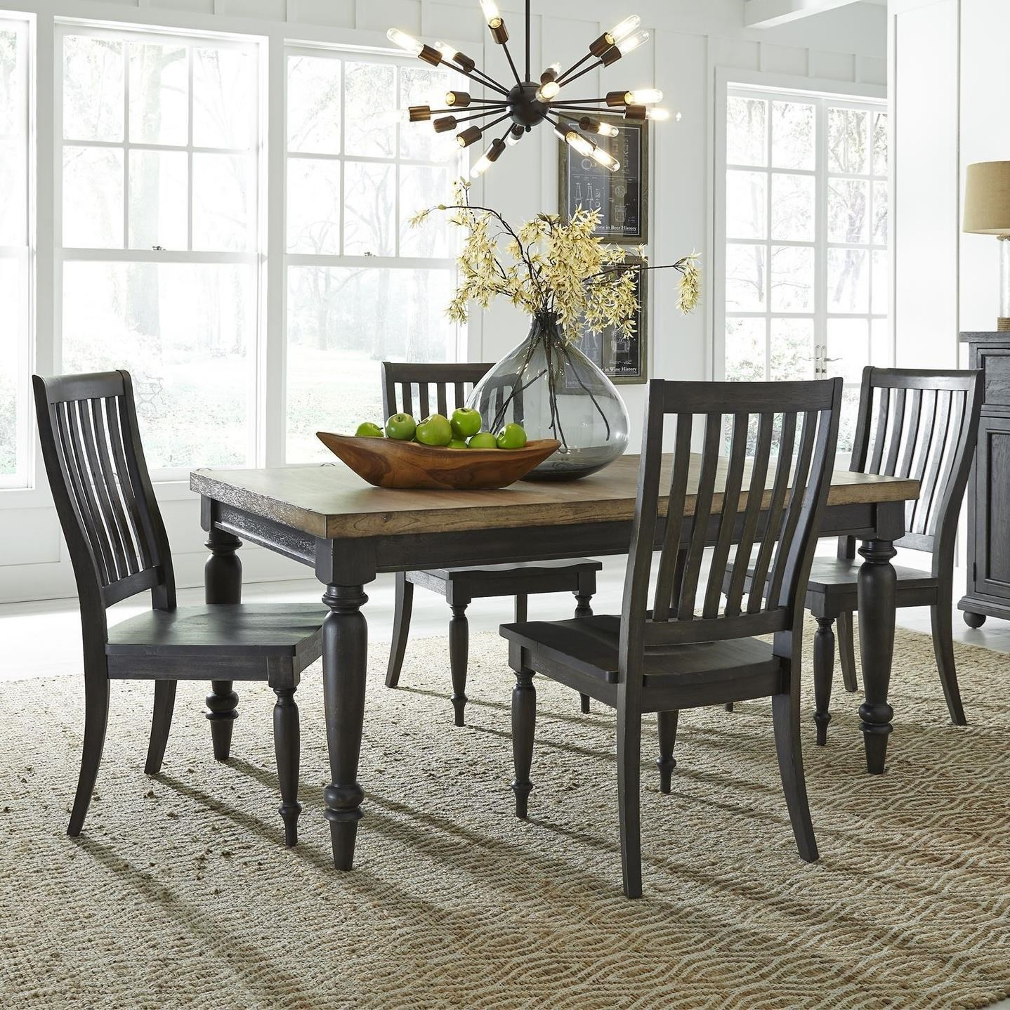 Harvest Home 5-Piece Rectangular Table Set by Libby at Walker's Furniture