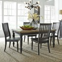 Liberty Furniture Harvest Home 5-Piece Rectangular Table Set - Item Number: 879-DR-5RLS