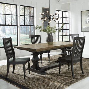 5-Piece Trestle Table Set