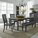 Liberty Furniture Harvest Home 6-Piece Rectangular Table Set - Item Number: 879-DR-6RTS
