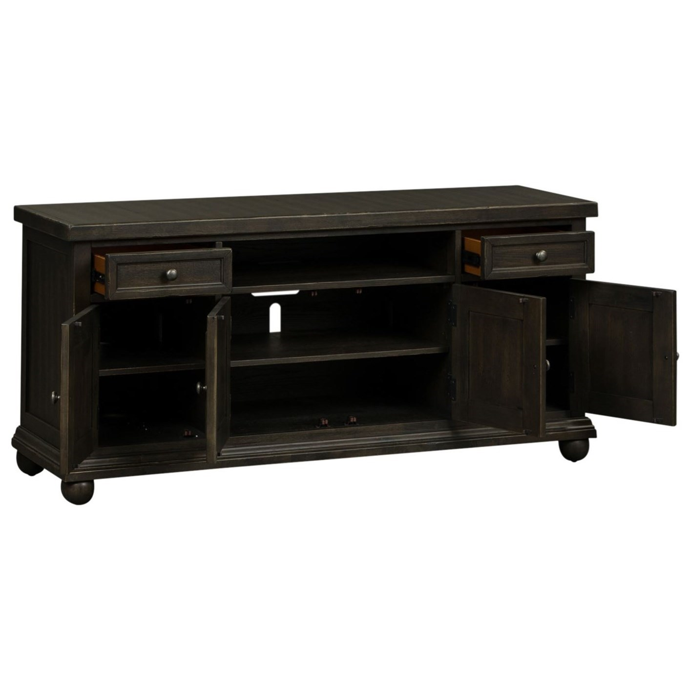 """Liberty Furniture Harvest Home Relaxed Vintage 60"""" Console ..."""