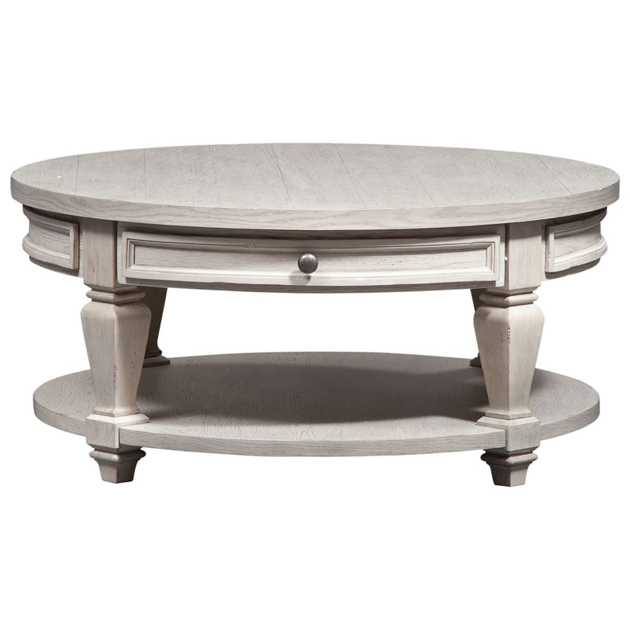 Harvest Home Round Cocktail Table by Libby at Walker's Furniture