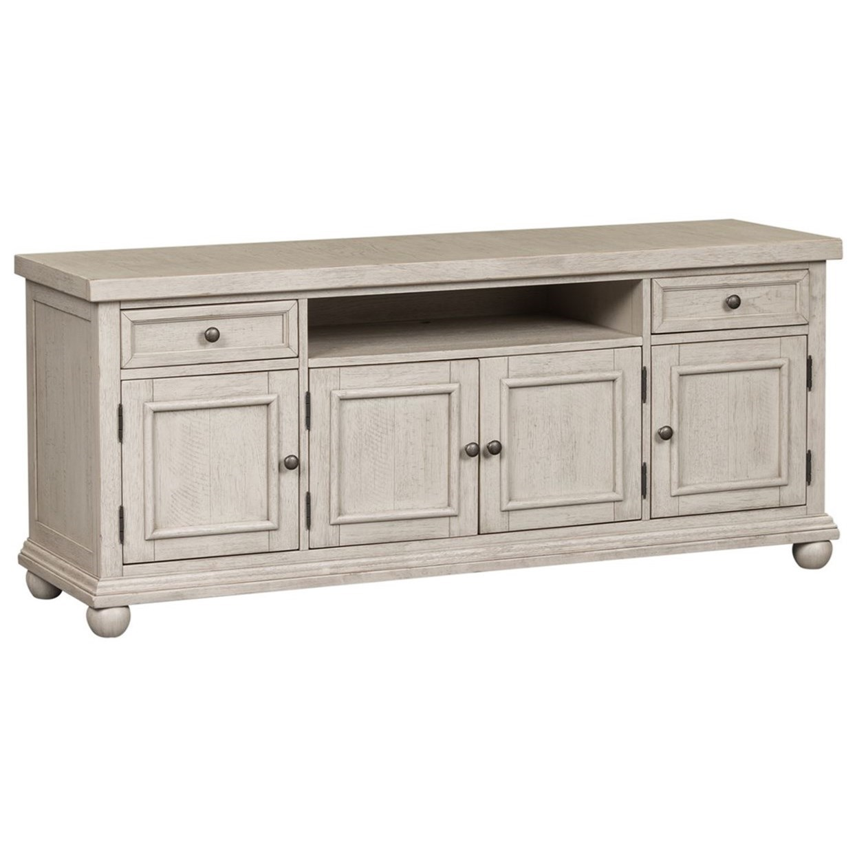 """Liberty Furniture Harvest Home Relaxed Vintage 66"""" TV ..."""