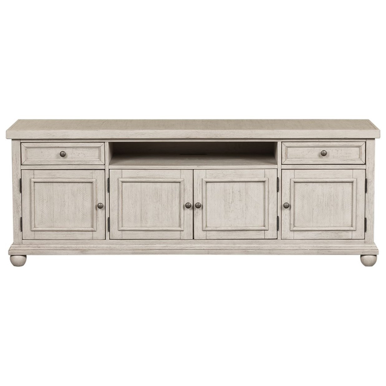 """Harvest Home 75"""" TV Console by Liberty Furniture at Northeast Factory Direct"""