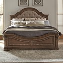 Liberty Furniture Haven Hall King Upholstered Panel Bed - Item Number: 685-BR-OKPB