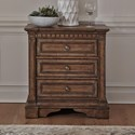 Liberty Furniture Haven Hall 3-Drawer Nightstand - Item Number: 685-BR61