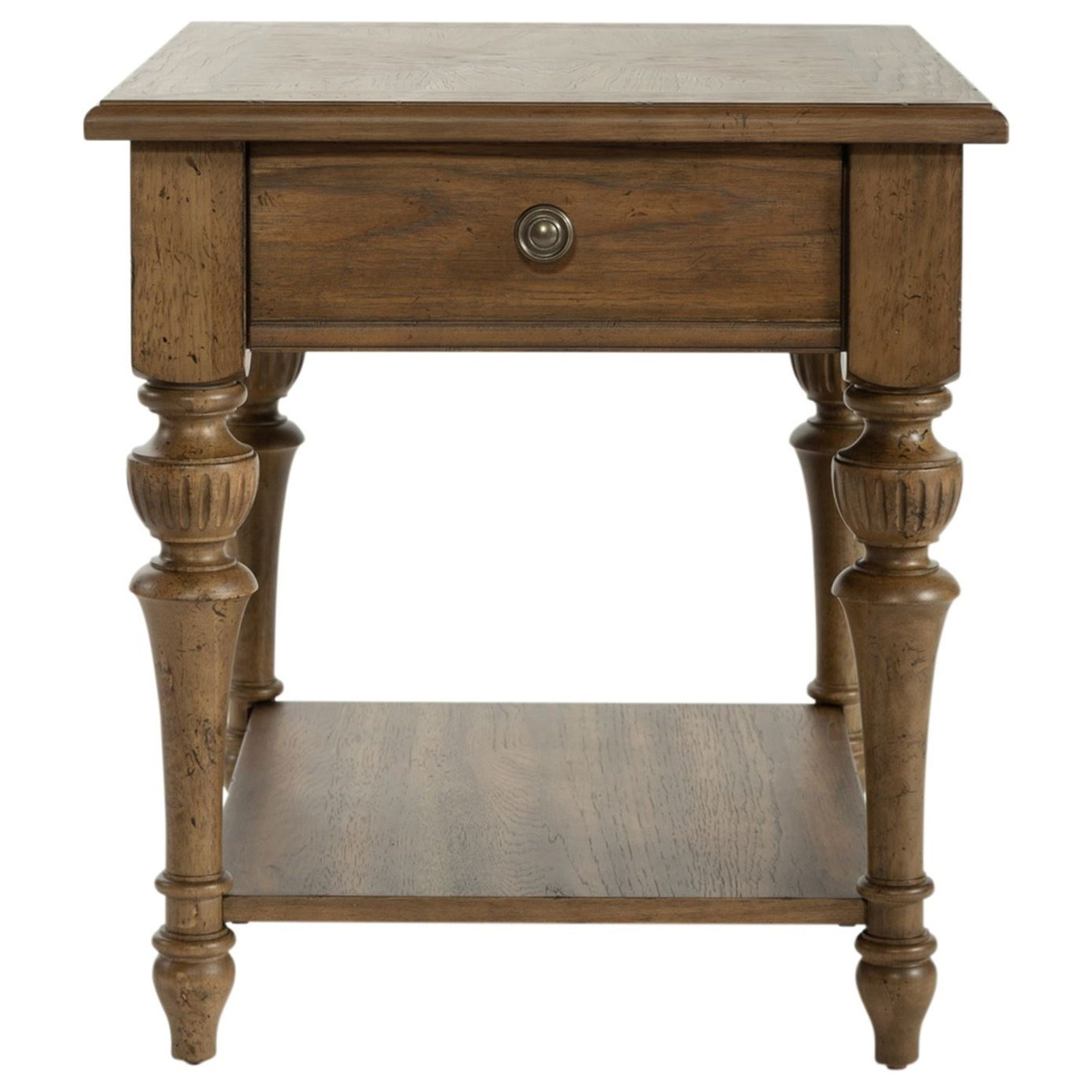 Haven Hall Drawer End Table by Libby at Walker's Furniture