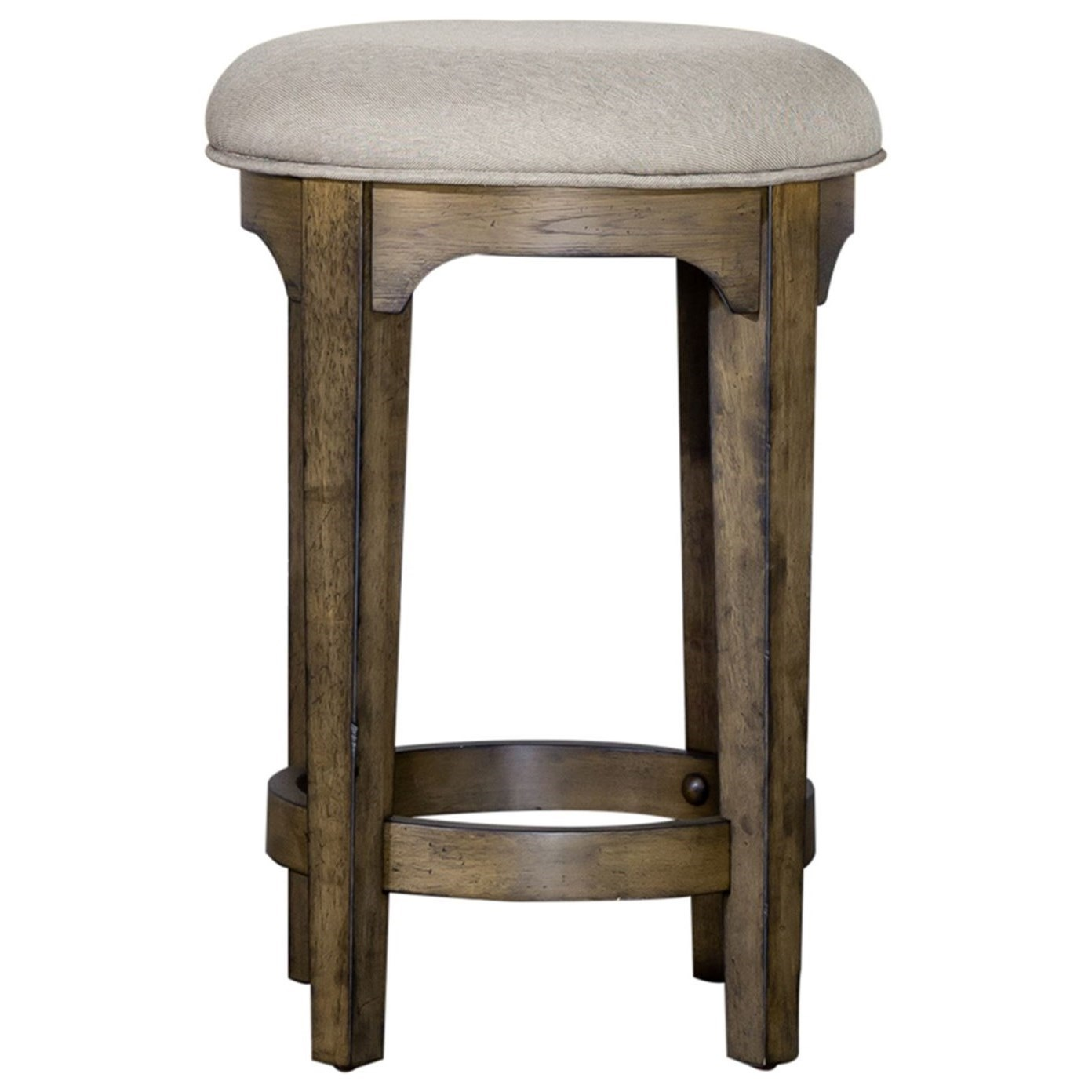 Haven Hall Upholstered Console Stool by Libby at Walker's Furniture