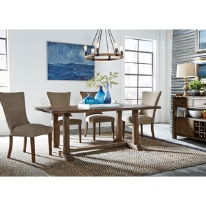 Liberty Furniture Havenbrook 5 Piece Trestle Dining Set