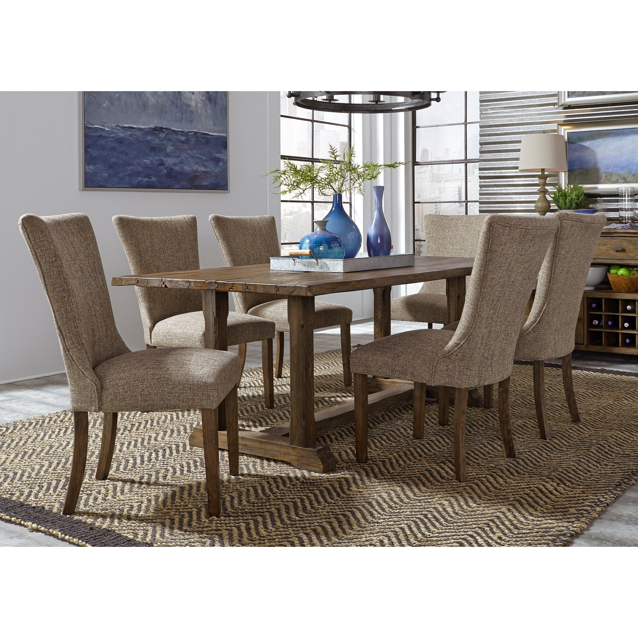 Liberty Furniture Havenbrook 7 Piece Trestle Dining Set   Item Number:  262 CD