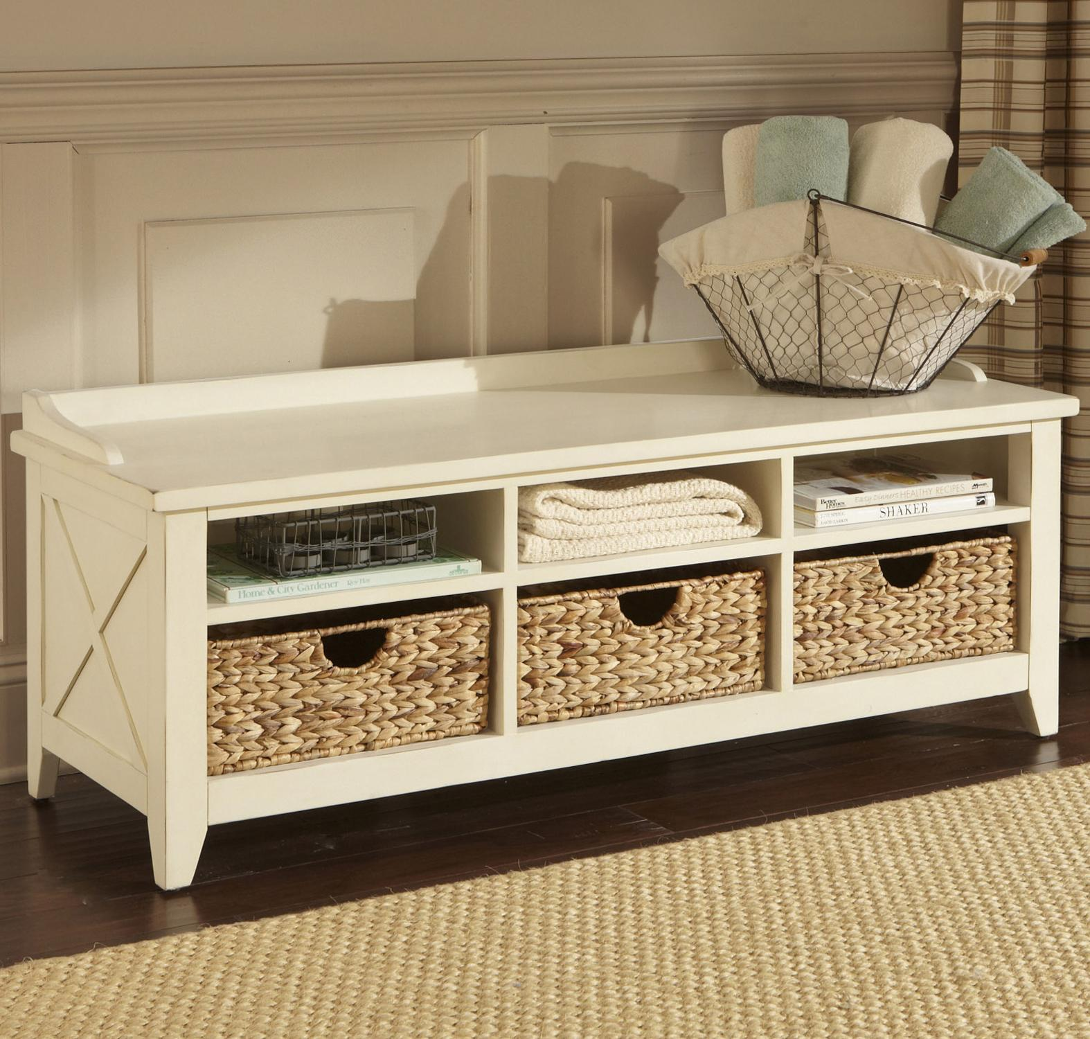 Liberty Furniture Hearthstone Cubby Storage Bench - Item Number: 282-OT47
