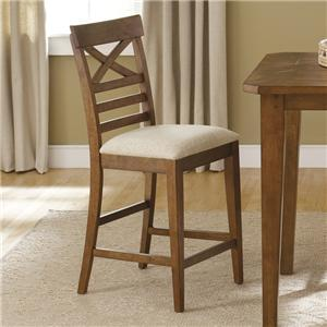 Liberty Furniture Hearthstone X-Back Counter Height Chair