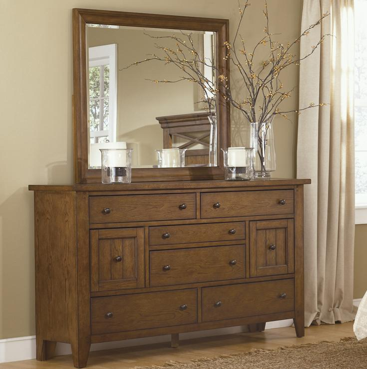 Liberty Furniture Bunker Hill Dresser & Mirror - Item Number: 382-BR-SET50
