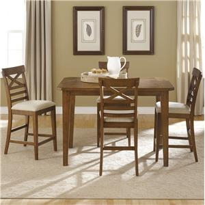 Liberty Furniture Hearthstone 5 Piece Gathering Table Set