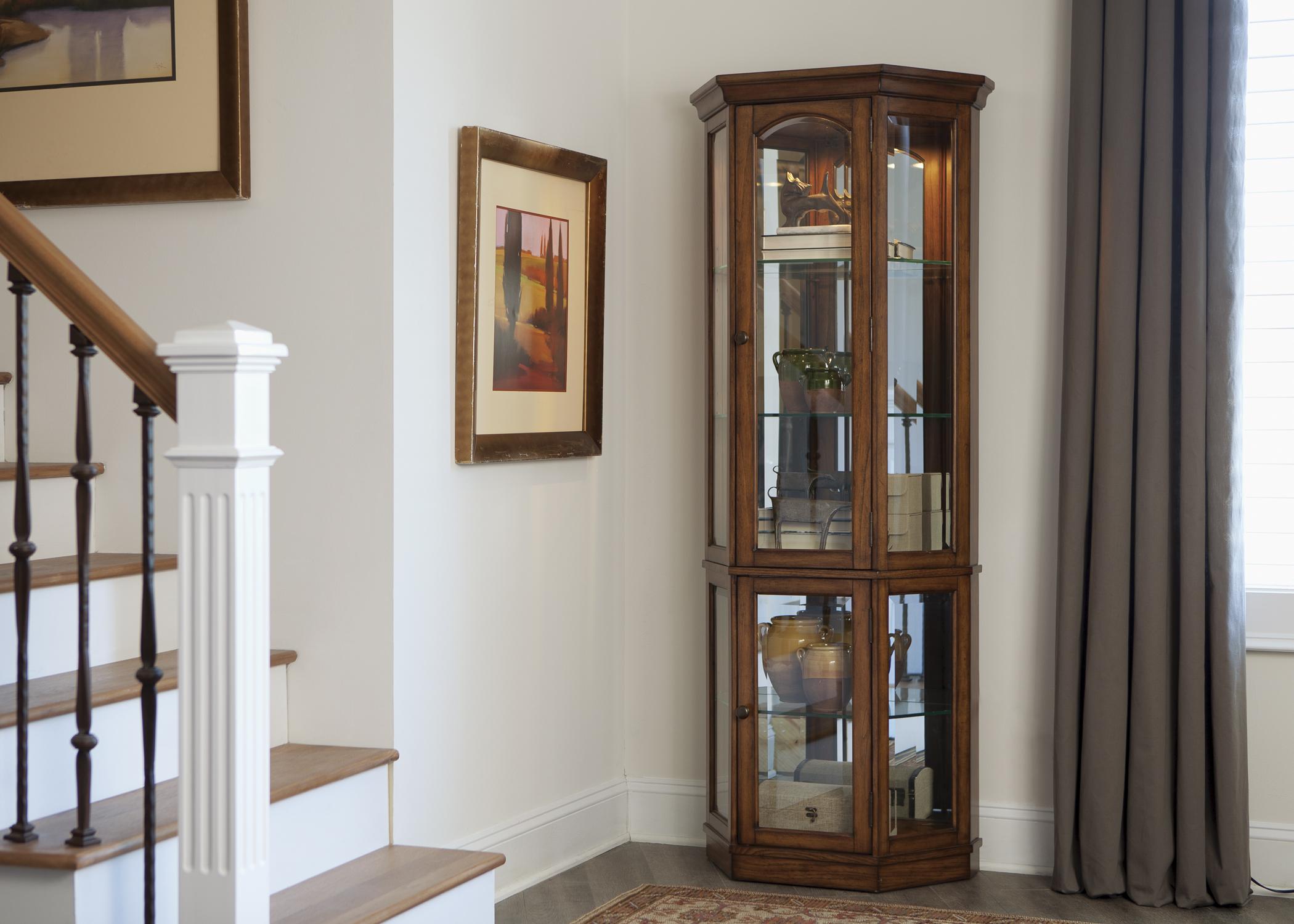 Liberty Furniture Hearthstone 2 Piece Curio  - Item Number: 382-CU-2PCC