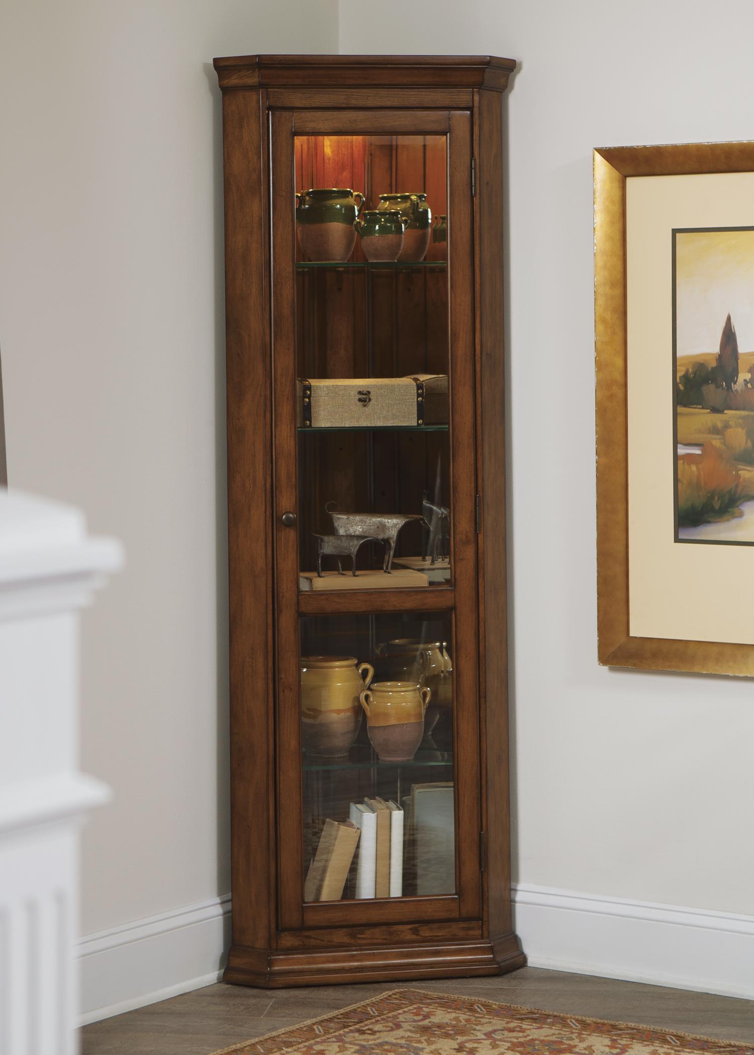 Liberty Furniture Hearthstone Corner Curio - Item Number: 382-CU2572