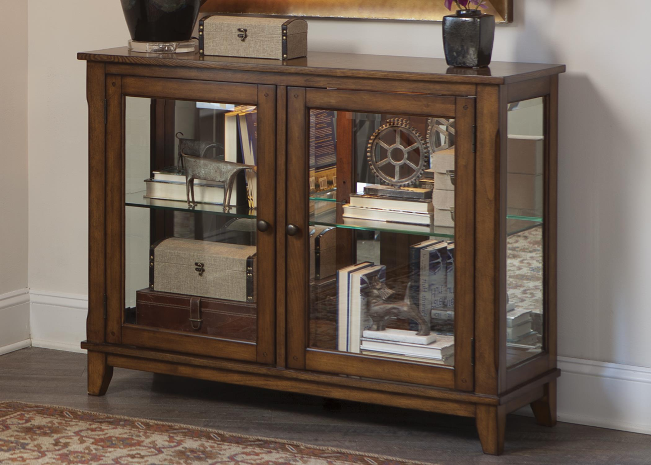 Liberty Furniture Hearthstone Console Curio - Item Number: 382-CU4635