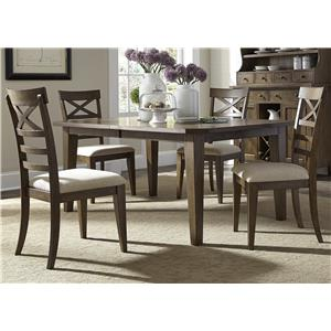 Vendor 5349 Hearthstone 5 Piece Rectangular Table Set