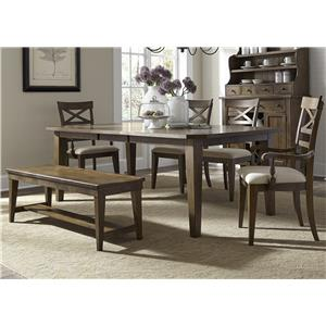 Vendor 5349 Hearthstone 6 Piece Rectangular Table Set