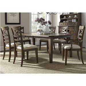 Liberty Furniture Bunker Hill Opt 7 Piece Rectangular Table Set