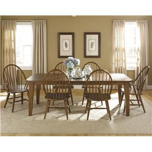 Liberty Furniture Hearthstone 7-Piece Rectangular Table Set