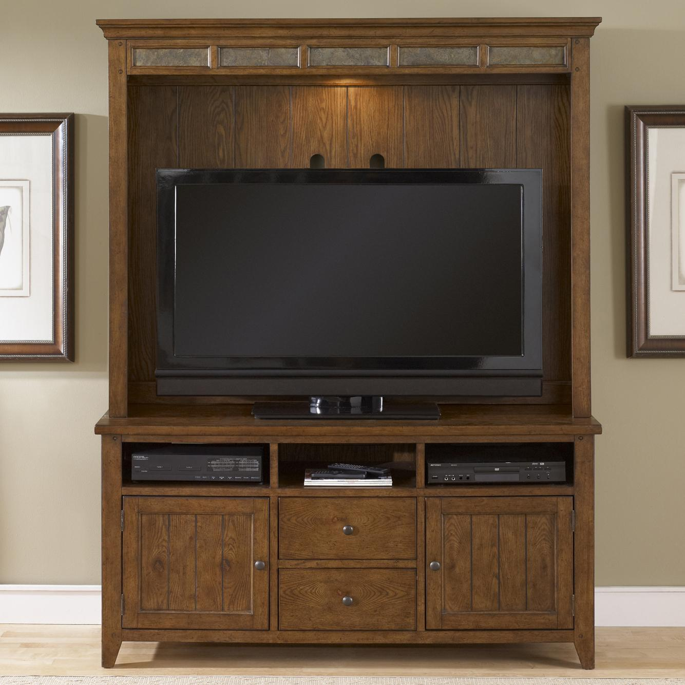Liberty Furniture Hearthstone Entertainment Center - Item Number: 382-ENTW-SET51
