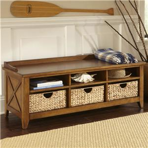 Liberty Furniture Bunker Hill Cubby Storage Bench