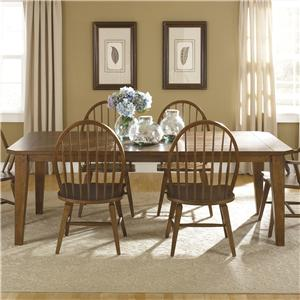 Vendor 5349 Hearthstone Rectangular Leg Table