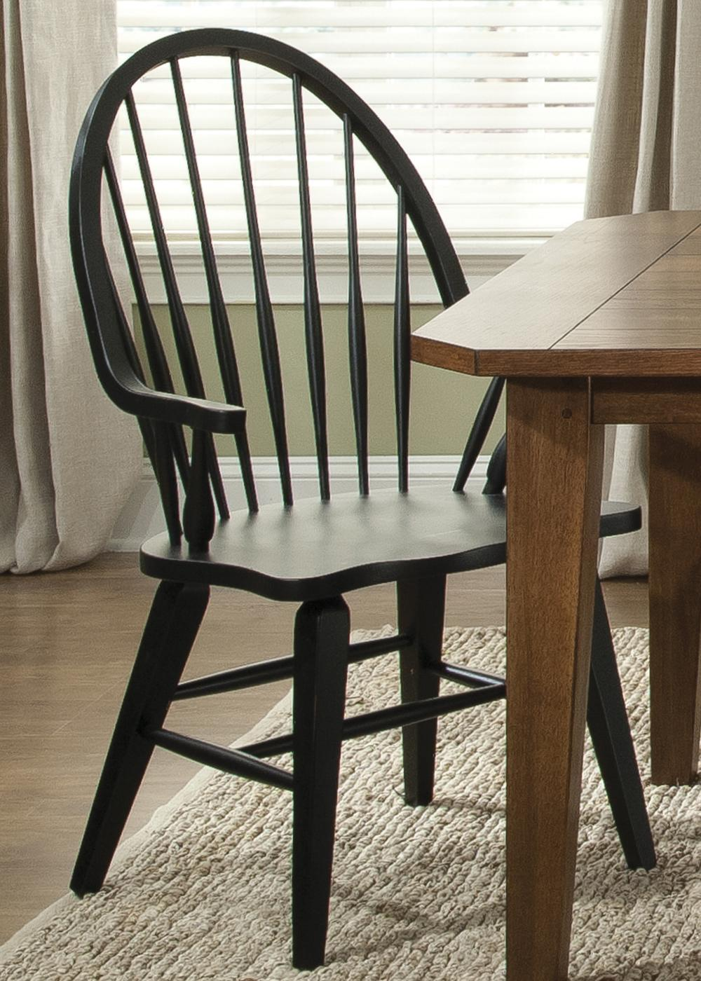 Liberty Furniture Hearthstone Windsor Back Arm Chair - Item Number: 482-C1000A