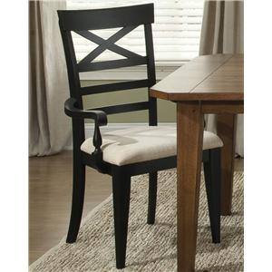Liberty Furniture Hearthstone X Back Arm Chair