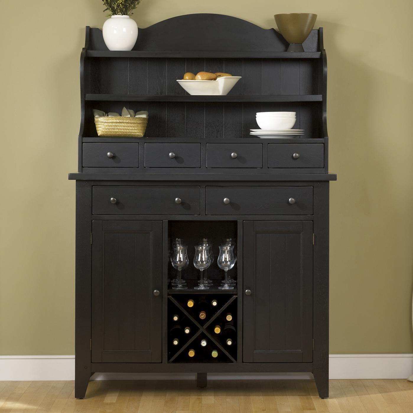 Liberty Furniture Hearthstone Server & Hutch - Item Number: 482-DR-SET140