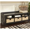 Liberty Furniture Hearthstone Cubby Storage Bench - Item Number: 482-OT47