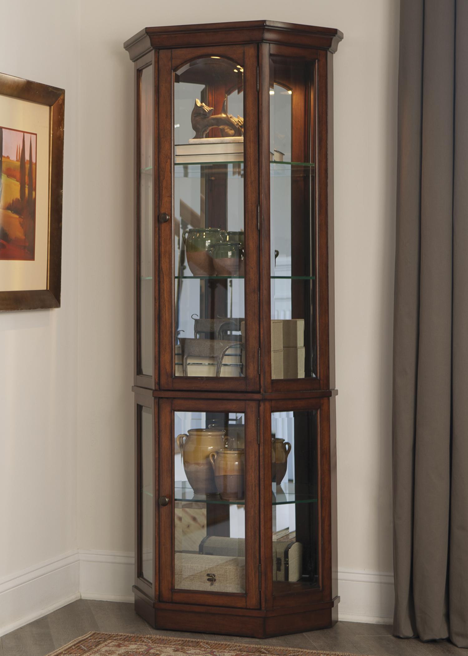 Liberty Furniture Hearthstone 2 Piece Curio  - Item Number: 582-CU-2PCC