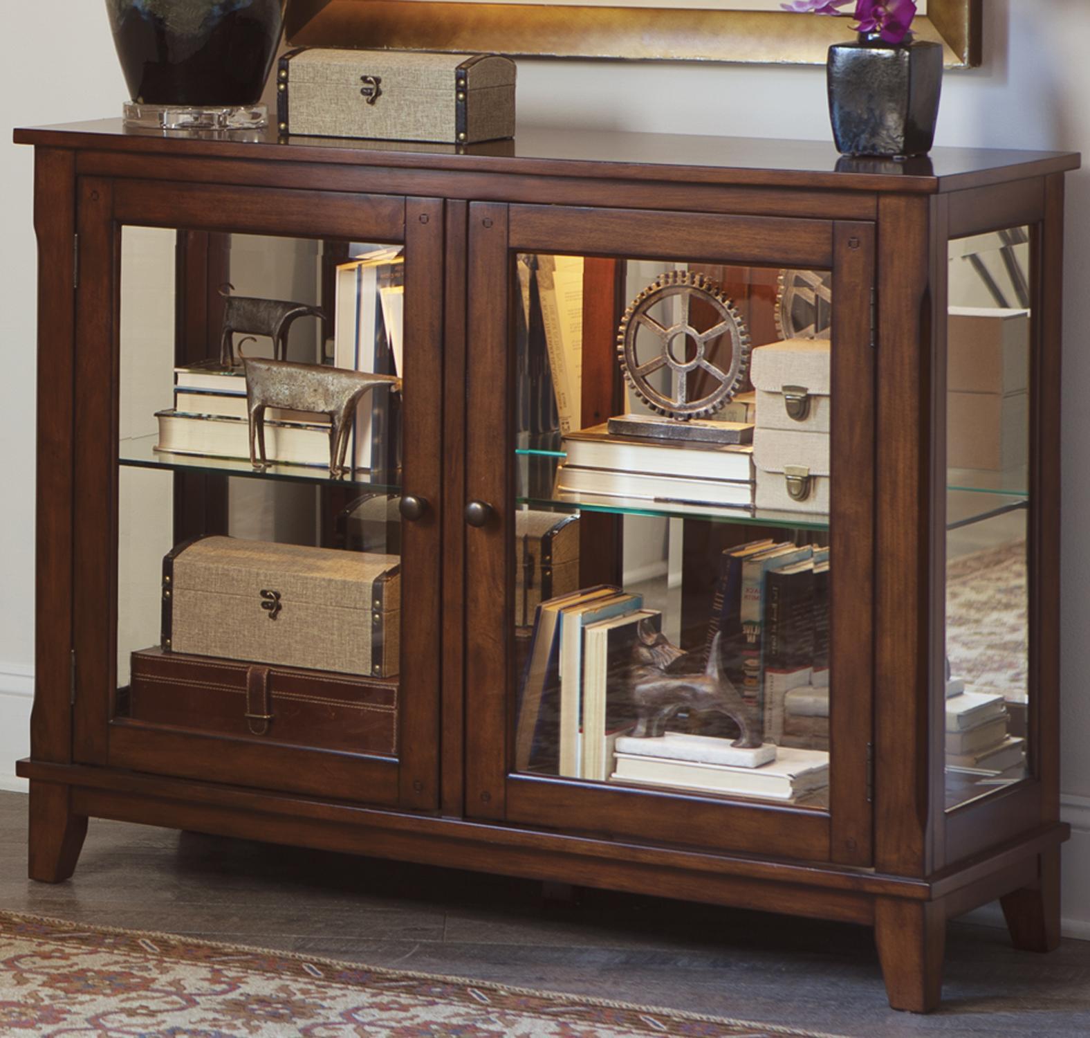 Liberty Furniture Hearthstone Console Curio - Item Number: 582-CU4635