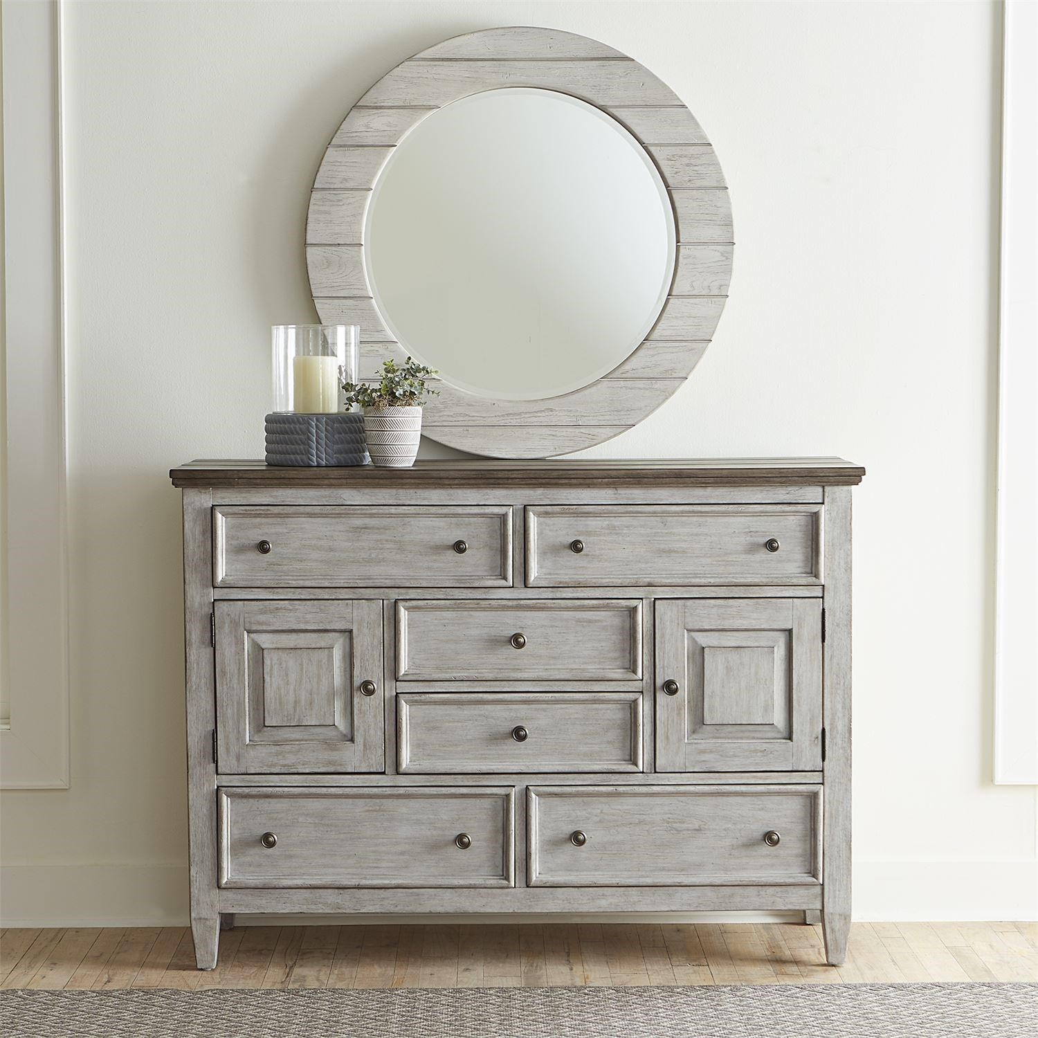 Heartland Dresser and Mirror by Liberty Furniture at Northeast Factory Direct