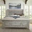 Liberty Furniture Heartland King Panel Bed - Item Number: 824-BR-OKPB