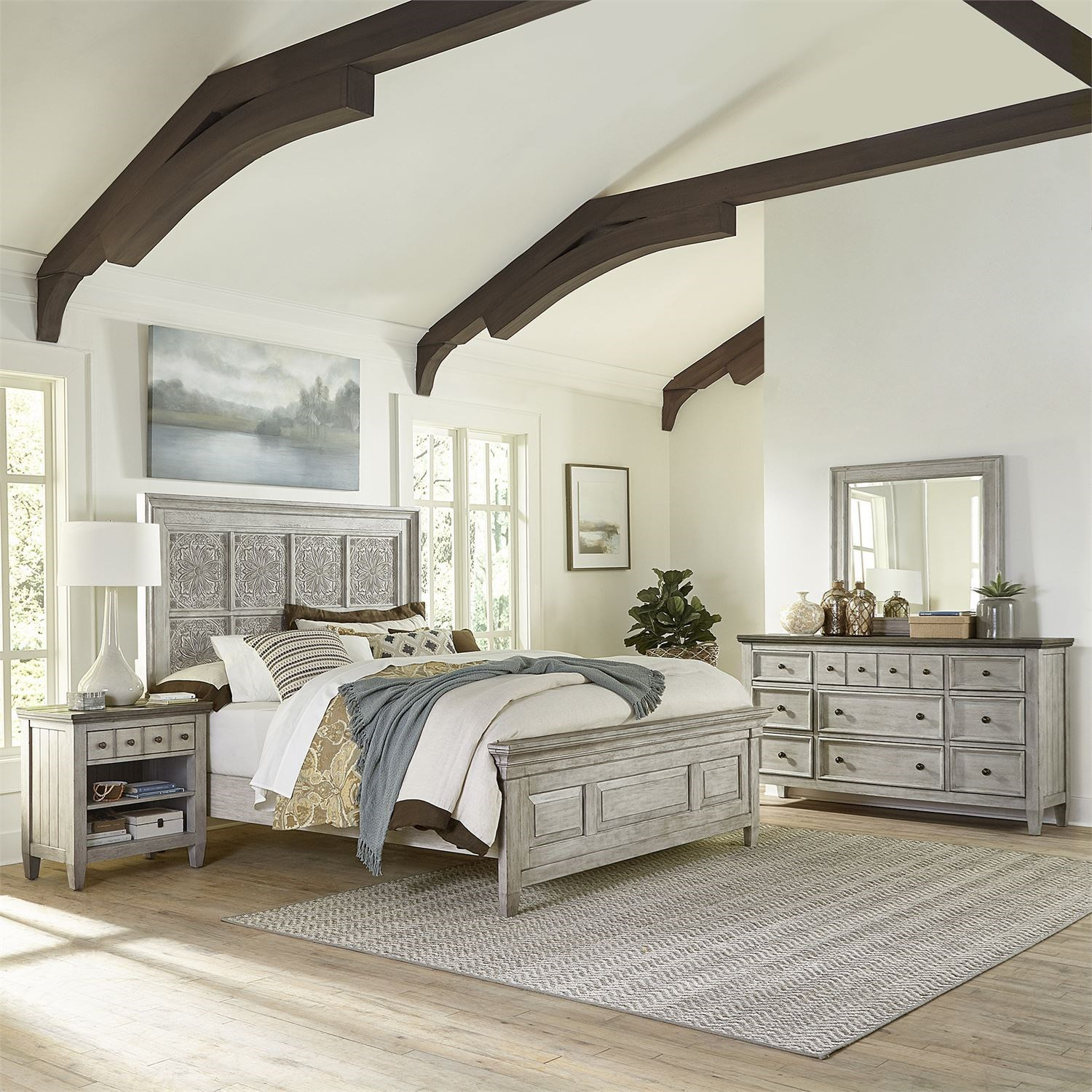 Haven King Bedroom Group by Libby at Walker's Furniture