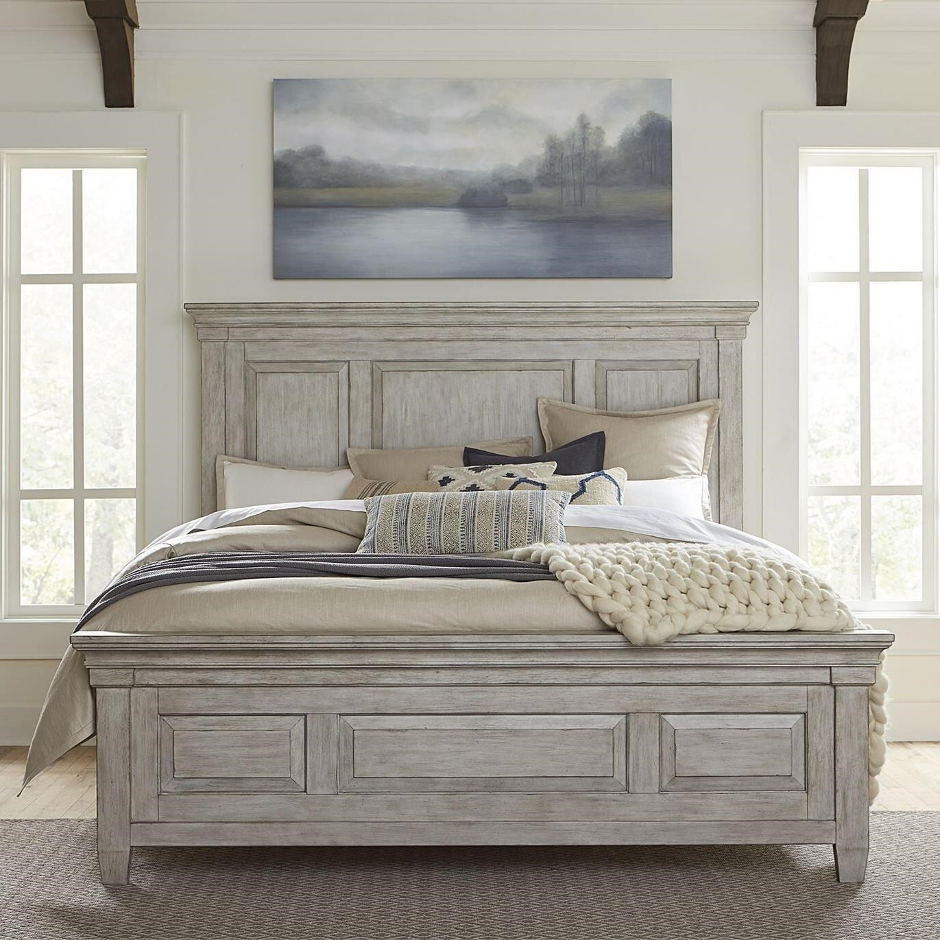 Heartland King Panel Bed by Liberty Furniture at Northeast Factory Direct