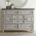 Liberty Furniture Heartland 2 Door 6 Drawer Chesser - Item Number: 824-BR32