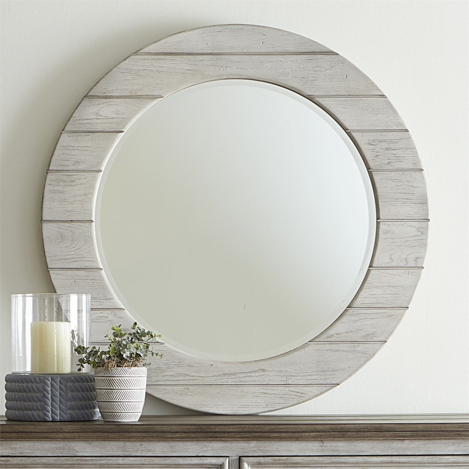 Haven Round Mirror by Libby at Walker's Furniture