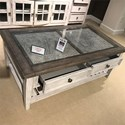 Liberty Furniture Heartland Rectangular Ceiling Tile Cocktail Table - Item Number: 824-OT1010