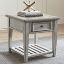 Liberty Furniture Heartland Drawer End Table - Item Number: 824-OT1020