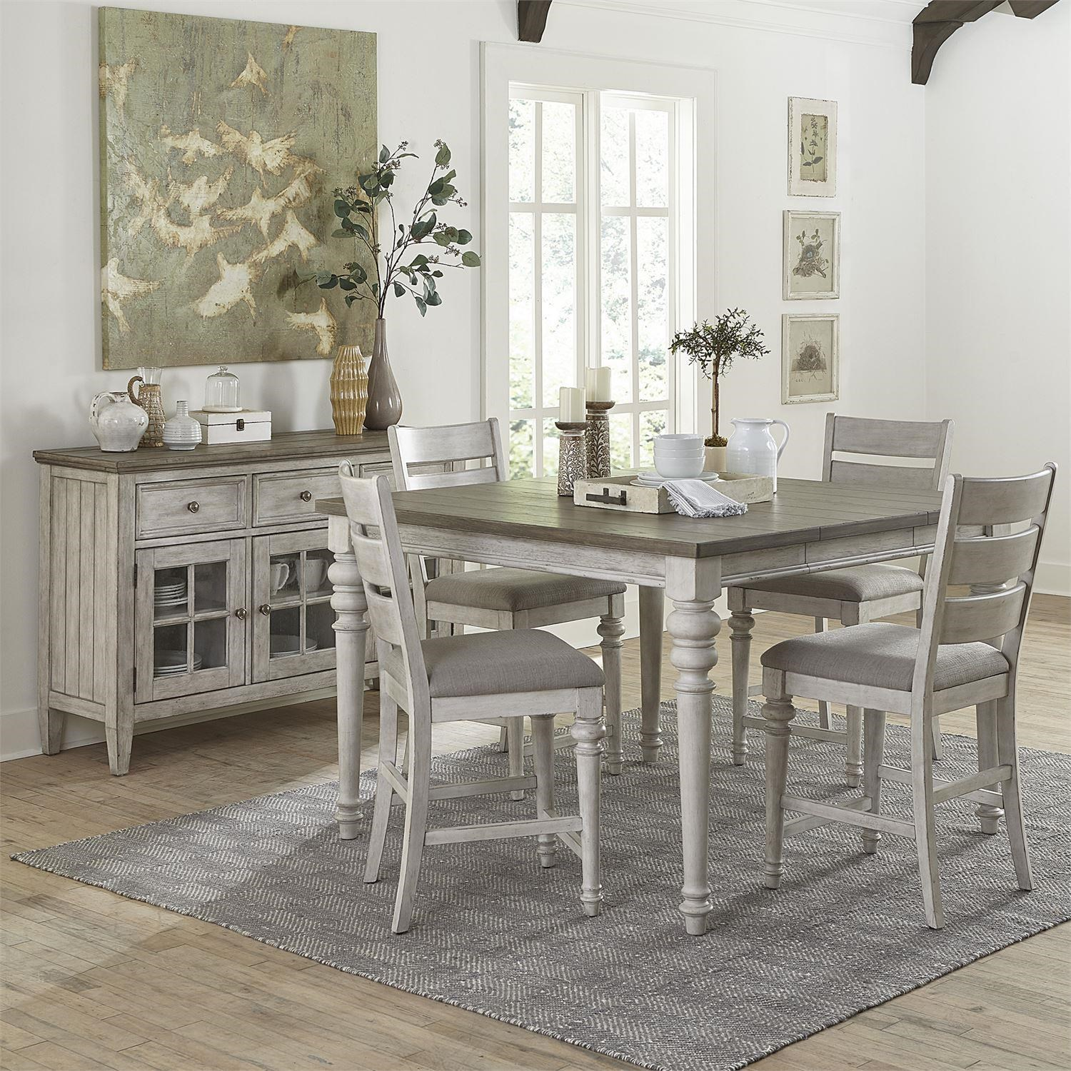 Gathering Height Table & 6 Chair Set