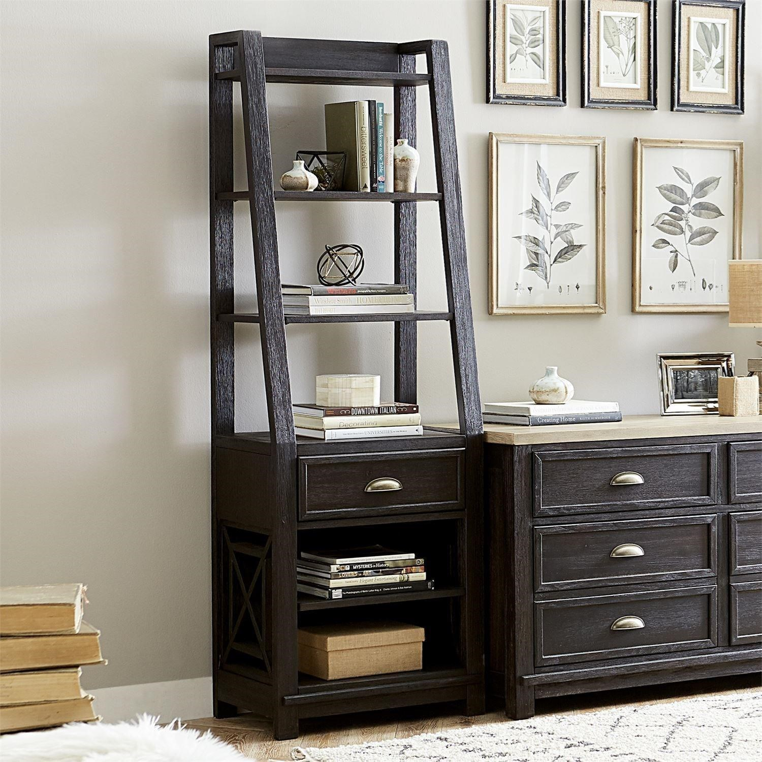 Heatherbrook Leaning Bookcase Pier by Libby at Walker's Furniture